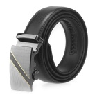 Men's Automatic Buckle Belt Leather Floor - Black (160cm)