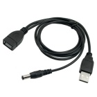 CY U2-345 USB 2.0 A Type Male to Female Extension Data Cable with Extra DC 5.5 x 2.1mm Power Plug