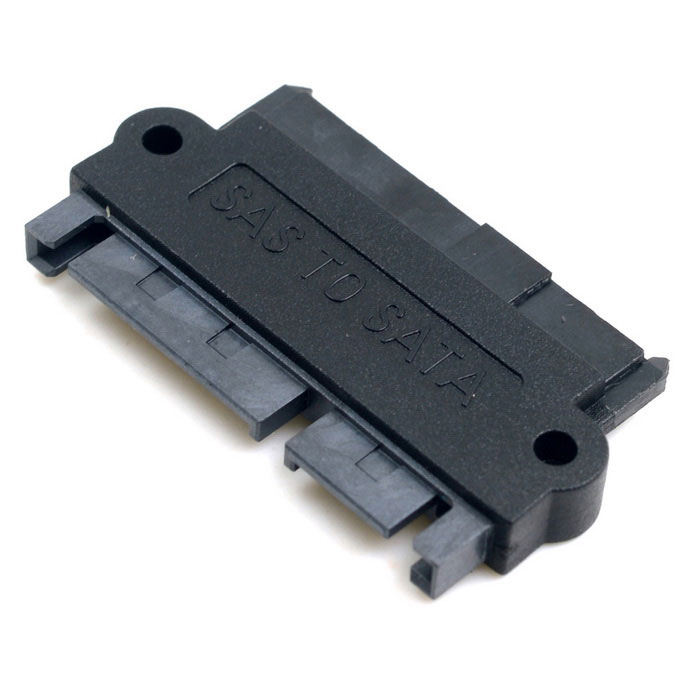 CY SFF-8482 SAS to SATA Hard Disk Drive Raid Adapter - Black