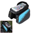 Basecamp Waterproof Cycling Bicycle Bike Front Top Tube Bag - Black + Blue