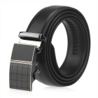 Men's Automatic Buckle Split Leather Belt - Black (110cm)