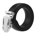 Men's Automatic Buckle Belt Leather Floor-Black(125cm)