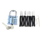 Skill Training Padlock + Lock Open Tools Set (10PCS)