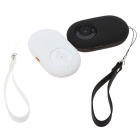 Mini Speaker Music Player w/ FM Selfie, Camera, Remote Shutter - White