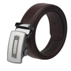 Fanshimite G05 Herren Automatikuhr Buckle Cow Split Leather Belt - Braun (130 cm)