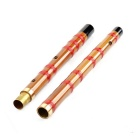 D Key Bamboo Flute w/ Protective Bag - Coffee + Red + Multi-color