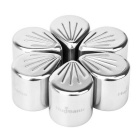Hugmania Flower Petal Shaped Stainless Steel Set Stones Ice Cube Reusable for Whisky / Wine (6PCS)