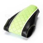 Auto Car PU Leather Gear Shift Knob Shifter Cover Sleeve Pad Case - Black + Green