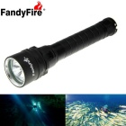 FandyFire XM-L2 U2 3-LED 3000lm 3-Mode Cool White Water & Land Diving Flashlight - Black (2 x 18650)