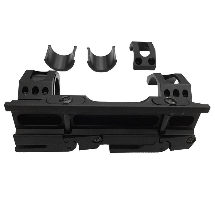 25/30mm Quick Release Autolock Tactical Gun Guide Rail Mount - Black
