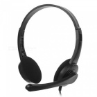 SENICC 3.5mm Wired Headband Headphone w/ Mic / Remote for Game Playing - Black