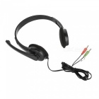 SENICC 3.5mm Headband Headphone w/ Mic,Remote for Game Playing - Black