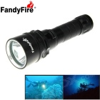 FandyFire XM-L2 U2 1-LED 1200lm 3-Mode Cool White Water & Land Diving Flashlight - Black (1 x 18650)
