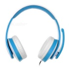 VYKON ME222 USB 2.0 Headband Headphone for Game Playing - White + Blue