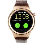 "Fashion Bluetooth V4.0 Round Dial Smart Watch Phone w/ 1.22"" IPS Screen / TF - Rose Golden + Brown"