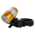 Waterproof 2-Mode White Light Cycling Bike Light w/ Holder - Gold