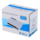 5-Port RJ45 100Mbps Network Switch Hub Splitter - White (US Plug)