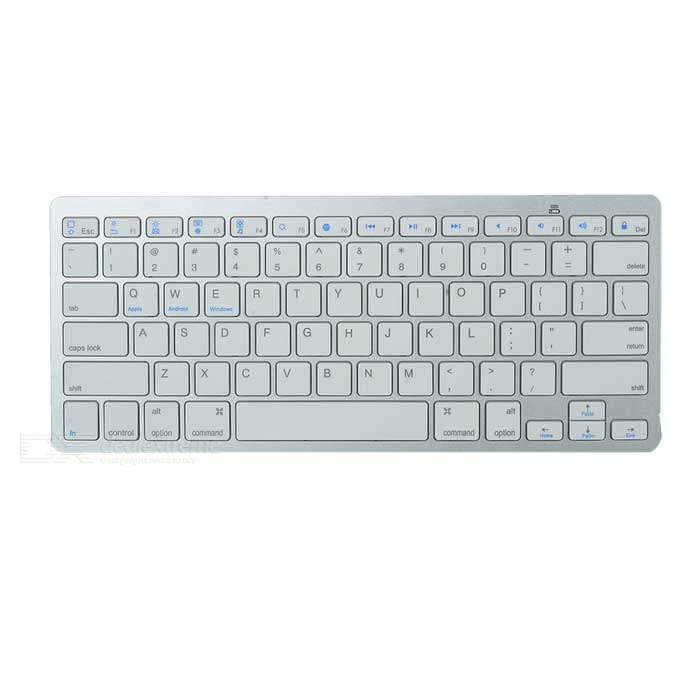 X5 Bluetooth V3.0 Keyboard w/ 78-Key for APPLE, Dell + More - WhiteWireless Keyboards<br>Form ColorWhiteMaterialABSQuantity1 DX.PCM.Model.AttributeModel.UnitInterfaceOthers,N/AWireless or WiredBluetoothBluetooth VersionBluetooth V3.0Compatible BrandAPPLE,Dell,HP,Toshiba,Acer,Samsung,MSI,Sony,IBM,Asus,Thinkpad,Huawei,GoogleTracking MethodOthers,N/ABack-litNoOperation Distance8~10 DX.PCM.Model.AttributeModel.UnitPowered ByAAA BatteryBattery included or notNoCharging Time0 DX.PCM.Model.AttributeModel.UnitBattery Number2WaterproofNoTypeErgonomicSupports SystemWin xp,Win 2000,Win 2008,Win vista,Win7 32,Win7 64,Win8 32,Win8 64,MAC OS X,IOS,Linux,Android 2.xPacking List1 x Keyboard<br>