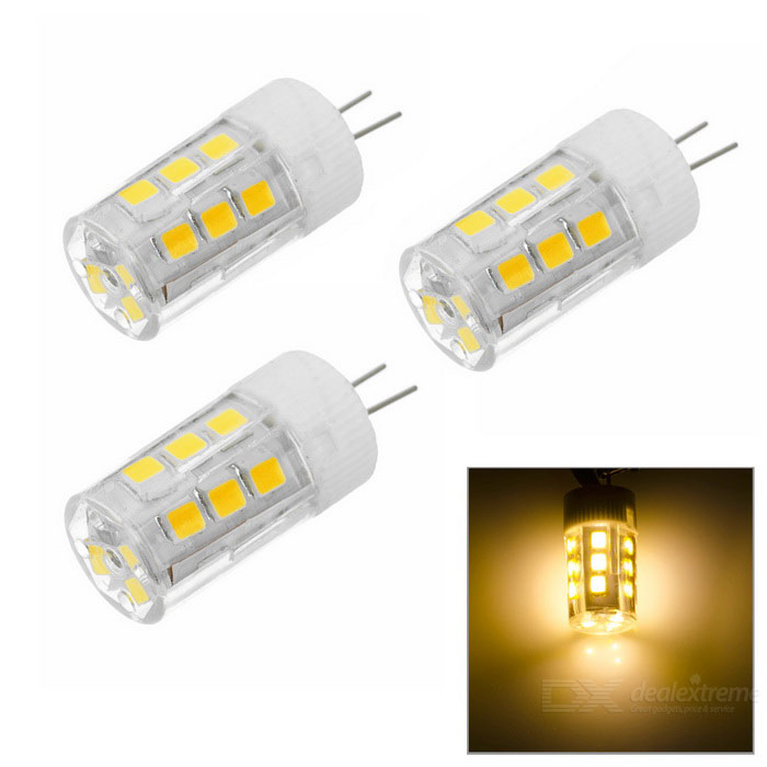 JRLED G4 2W High Light Ceramic Bulb Warm White 3200K 21-SMD (3PCS)G4<br>Form  ColorWhite + Yellow + Multi-ColoredColor BINWarm WhiteMaterialCeramic + PC + LEDQuantity3 DX.PCM.Model.AttributeModel.UnitPowerOthers,2WRated VoltageOthers,AC/DC 12 DX.PCM.Model.AttributeModel.UnitConnector TypeG4Chip BrandOthers,N/AChip Type2835 SMDEmitter TypeOthers,2835 SMDTotal Emitters21Theoretical Lumens200 DX.PCM.Model.AttributeModel.UnitActual Lumens100~200 DX.PCM.Model.AttributeModel.UnitColor Temperature12000K,Others,3000-3200KDimmableNoBeam Angle360 DX.PCM.Model.AttributeModel.UnitPacking List3 x G4 lights<br>