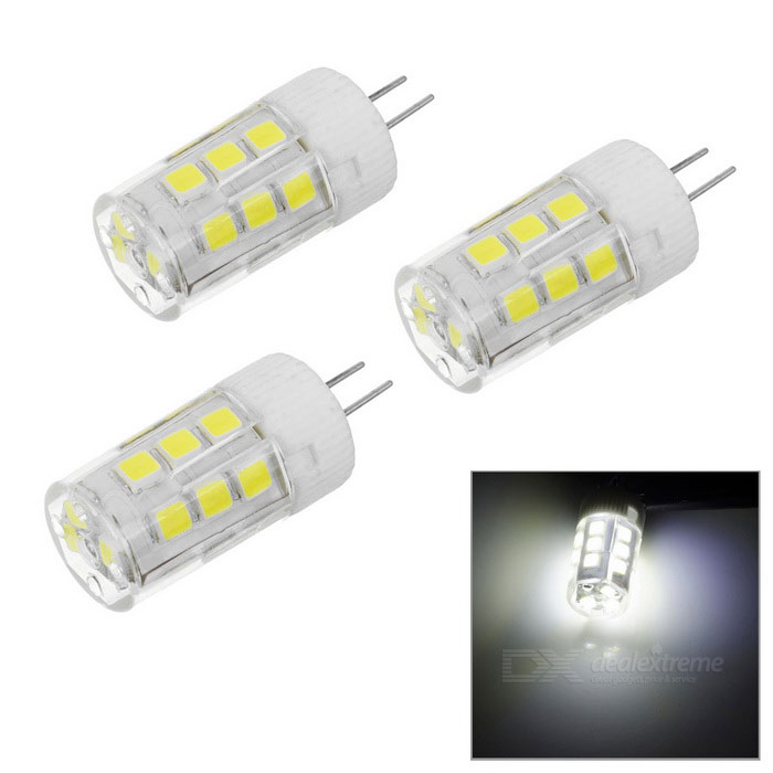 JRLED G4 2W High Light LED Bulb Lamp White Light 6450K 21-SMD (3PCS)