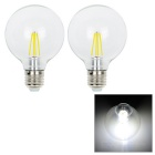 G80B E27 4W White Light 4-COB Bulb (2 PCS / AC 85~265V)