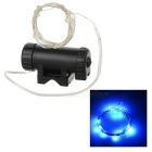 Leadbike A01 Water-Resistant USB Rechargeable Blue 2-Mode 20-LED Bike Wheel Spoke Light - Black