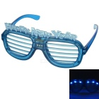Funny Carnival Festival Party LED Light PC Glasses w/ 3-Mode 6 Blue Light LEDs