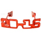 "Funny ""2016"" Shaped Carnival Festival Party Red LED Light w/ 3-Mode"
