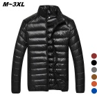 Herren Ultra Light Thin Down Jacket Coats - Schwarz (L)