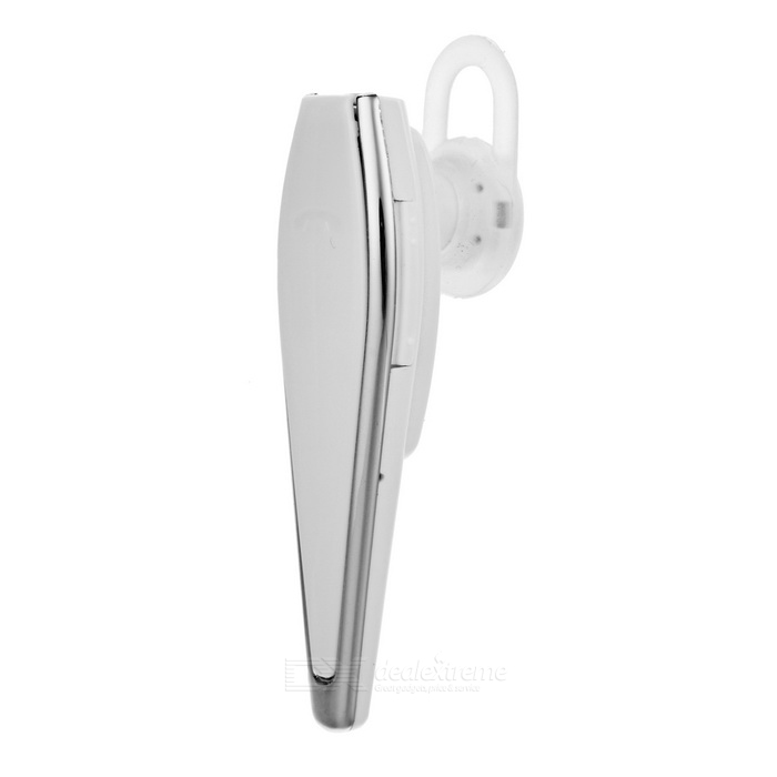 Elegante Bluetooth v4.0 in-ear headset w / microfone - branco + prata