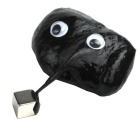 Super Strange Magic Magnetic Bouncing Toy Silly Putty w/ Cube Magnet - Black