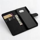 Wallet Case Cover w/ Stand / Card Slots for Samsung Galaxy S6 - Black