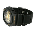 SANDA 30m Waterproof Display Outdoor Sport Watch - Black + Golden