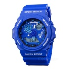 SANDA 30m Waterproof Dual Display Outdoor Sport Watch - Blue (1 x CR2016)