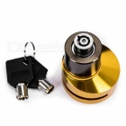Bike Bicycle Security Anti-Theft Disc Brake Lock - Golden