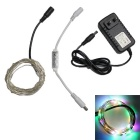 Decoration Waterproof 1.5W RGB 50-SMD 0603 LED Copper Wire Light Strip 12V with Adapter Controller