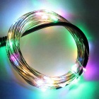 Waterproof 1.5W RGB 50-LED Copper Wire Light Strip 12V w/ Controller