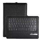 Removable Bluetooth V3.0 Keyboard PU Leather Material Protective Case for Kindle Fire HD 7 - Black