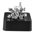 Magnetic Screws &Nuts Educational Toy /Desk Decoration - Black+Silver