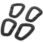 Outdoor Tactical Lightweight Quick Release QR D-Ring Carabiner - Black (4pcs)