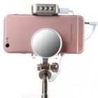 Retractable Selfie Monopod w/ Mirror / LED Fill Light - Champagne Gold