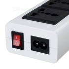 2 3-Pin Power Sockets + 6-Port USB EU Plug Charger (100~240V)