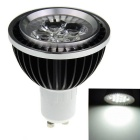 GU10 5-LED 1W 6500K Cool White Spot Light - Black + White (85~265V)