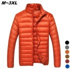 Herren Ultra Light Thin Down Jacket Coat - Orange (XL)