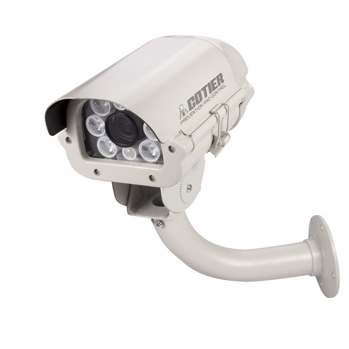 COTIER CMOS Sensor 1080P HD Waterproof License Plate IP Camera - White