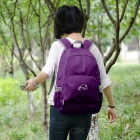 Wind Tour WT051017 Folding Shoulders Bag Backpack - Purple (25L)