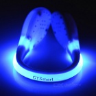 CTSmart Blue Light 2-Mode Safety Shoes Wrist LED Clip - White + Blue
