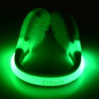 CTSmart Green Light 2-Mode Safety Shoes Wrist LED Clip - White + Green