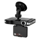 "120' Wide Angle CMOS Car HD GPS Navigator DVR w/ 2.0"" TFT, 1.3MP Camera, 720P, IR Night Vision"