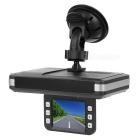 "Car DVR 2.0"" TFT 1.3MP Camera 720P IR Night Vision GPS - Black"